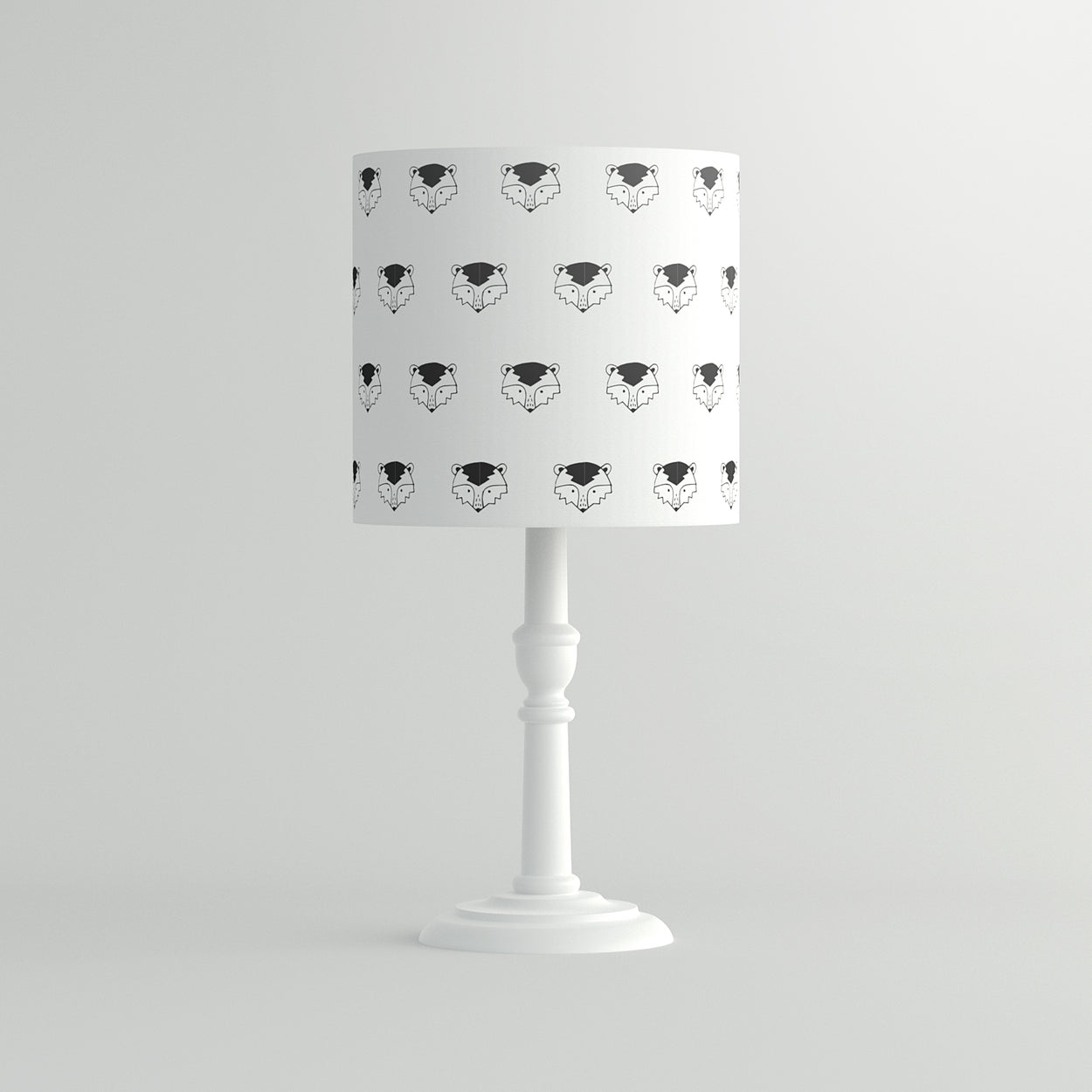 Monochrome Ronnie Raccoon Pendant Lampshade