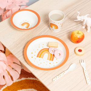 Rainbow Bamboo Tableware Set