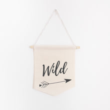 Load image into Gallery viewer, Wild Pennant Banner - 100% natural cotton
