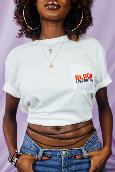 Black Liberation Now Pocket Tee