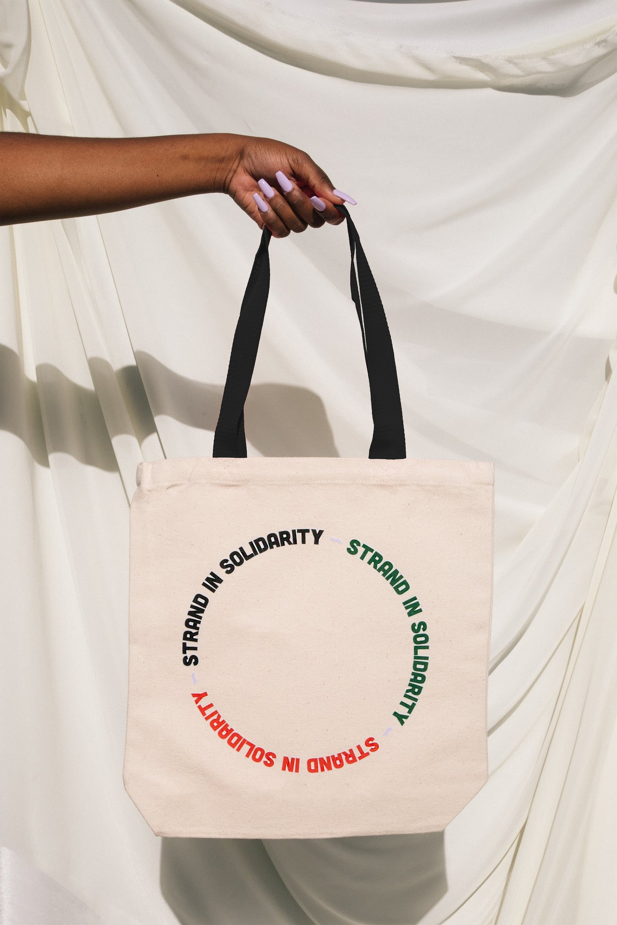 Strand In Solidarity Circle Tote