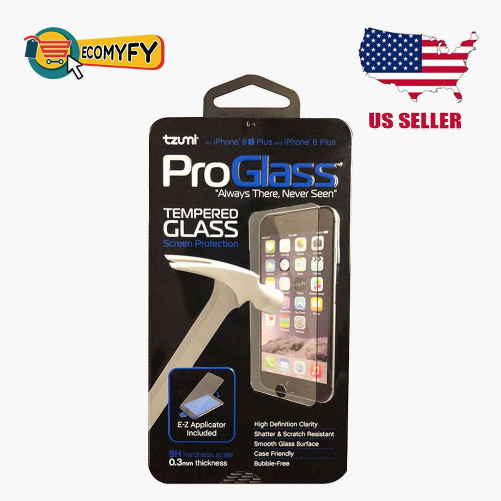 Tzumi ProGlass Screen Protector Tempered Glass iPhone 6 Plus iPhone 6 S Plus