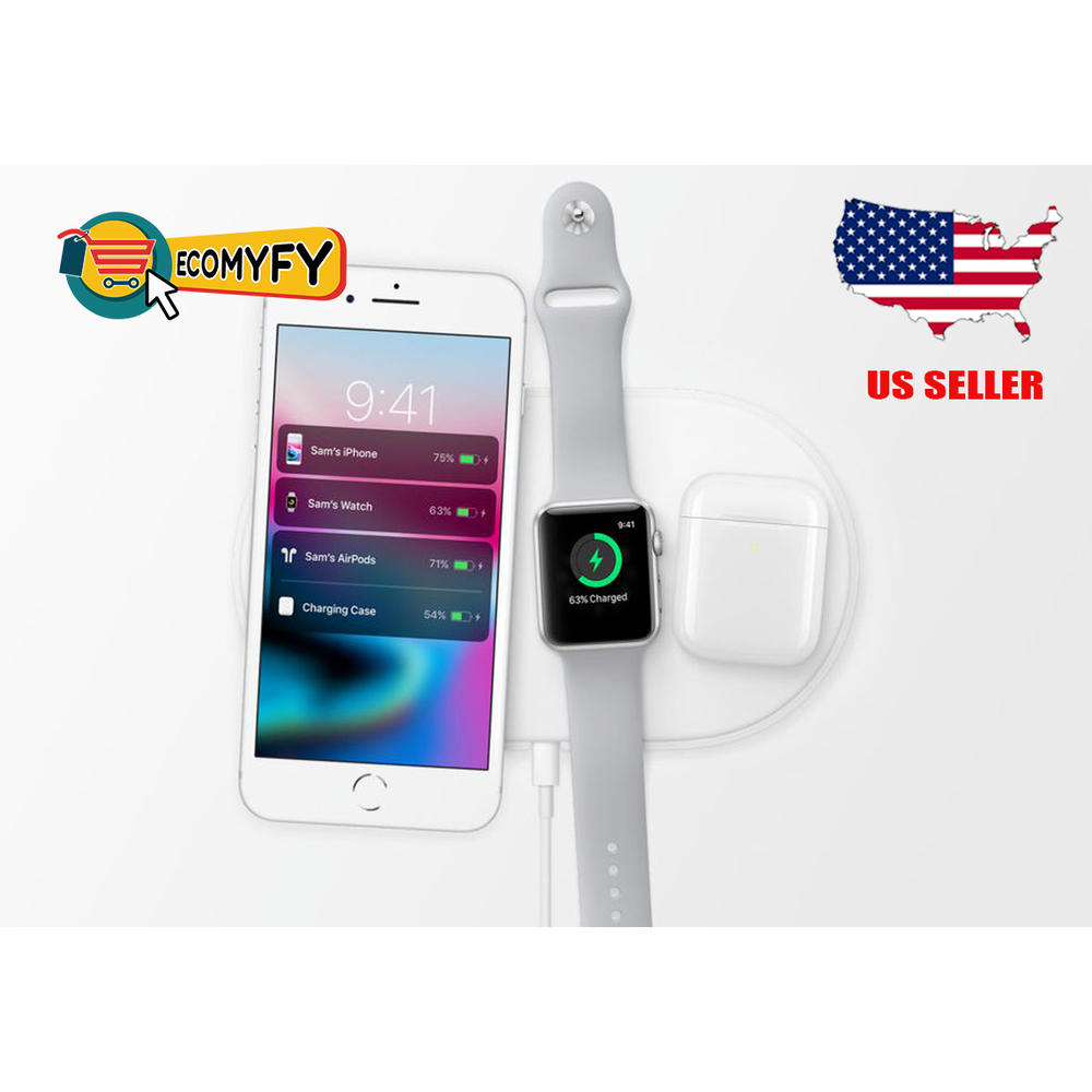 3 in 1 Wireless Charger For  iPhone Samsung Fast Charger USB Adapter