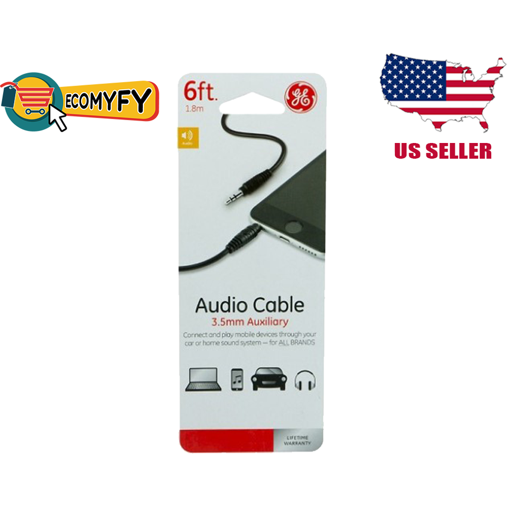 3.5mm Aux to Aux Audio Cable 6FT Headphones Car Home iPhone Jasco