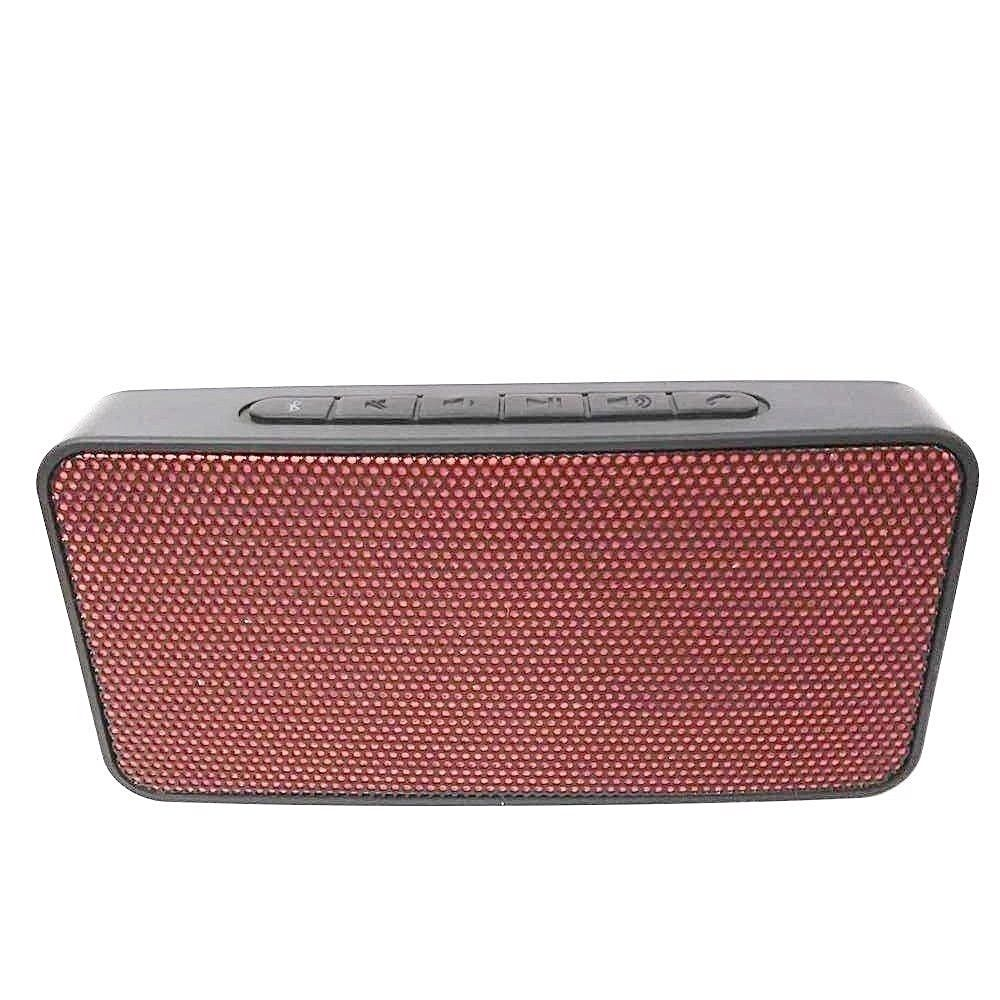 Blackweb Rocktech Mini Portable Wireless Speaker, Black - Red