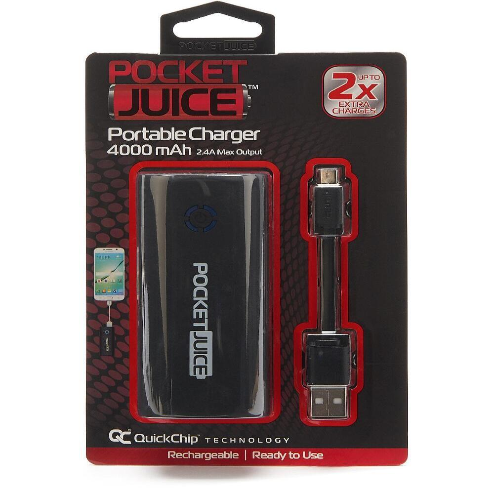 Tzumi Pocket Juice Portable Charger 4000 mAh 2.1A 4021BWM