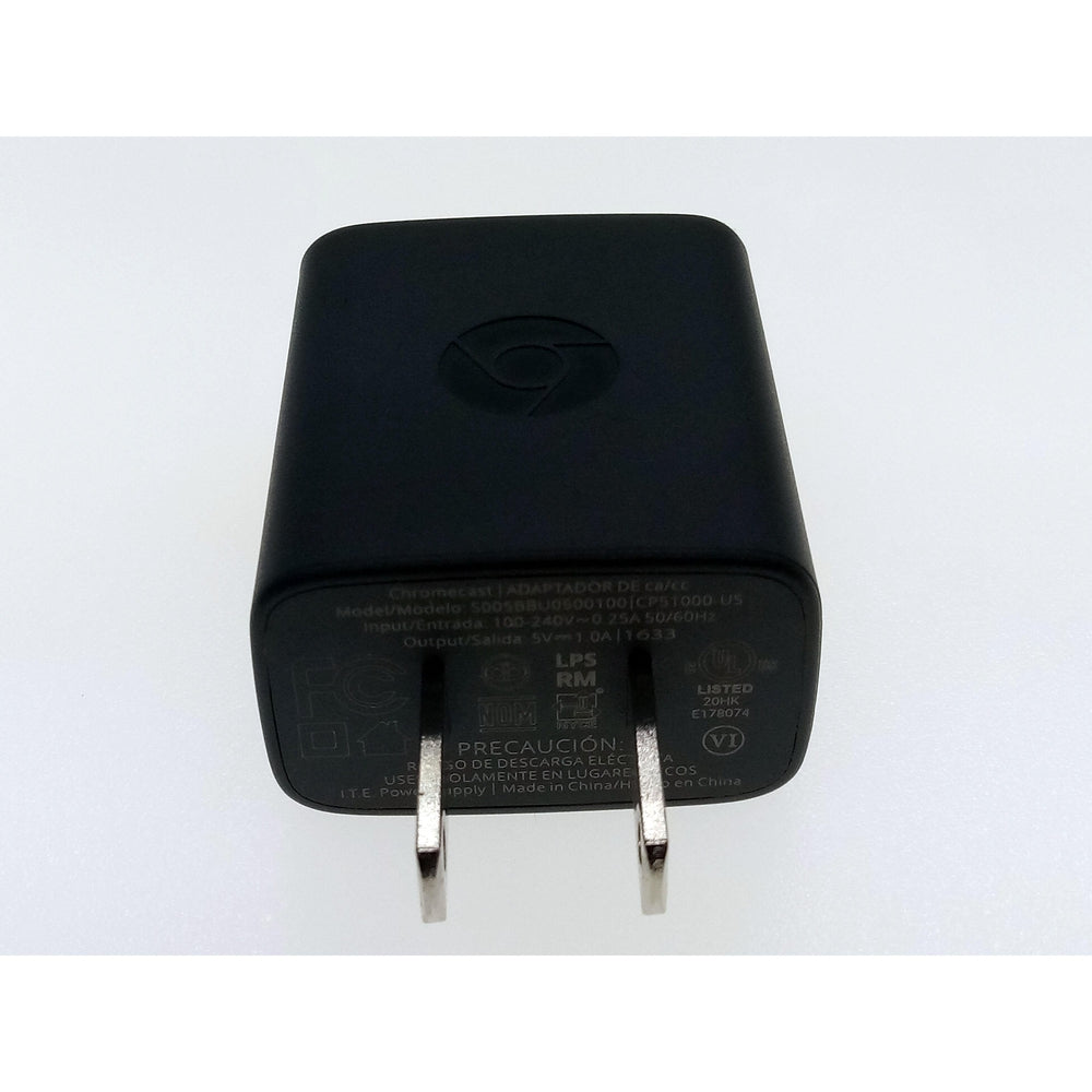 Chromecast Power Adapter AC Home Wall Charger 5.0V 1.0A (no Cable)