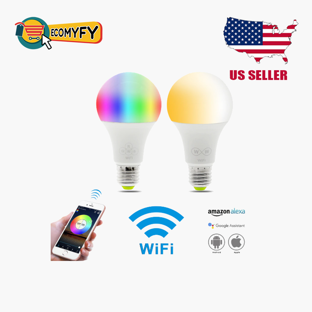 Wifi Smart Multi-Color LED Light Bulb for Amazon Alexa Google Home App Control