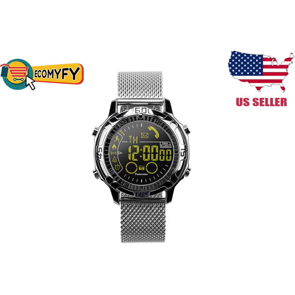 SmartWatch Wristwatch fitness Tracker EX28A Stainless Steel  Camera