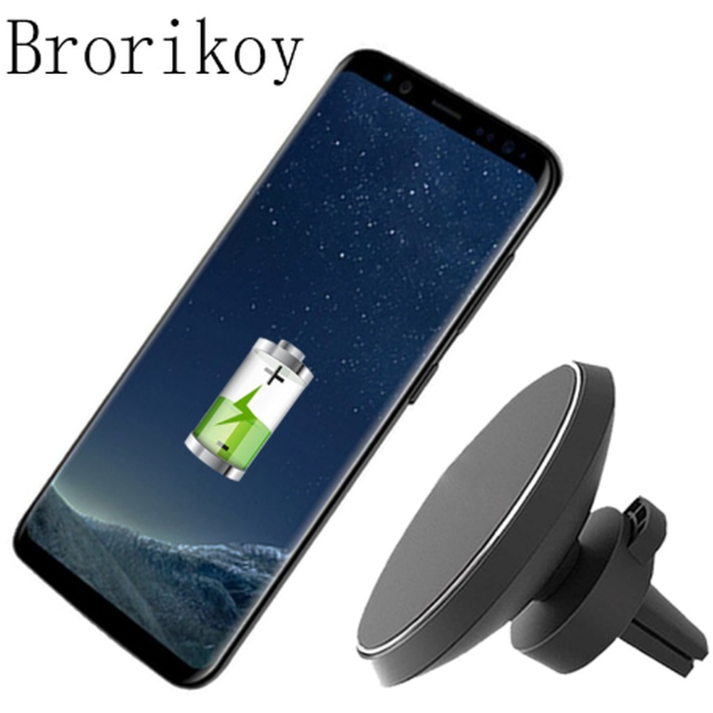Wireless Charger Car Magnetic iPhone Samsung Smart Phone Receiver