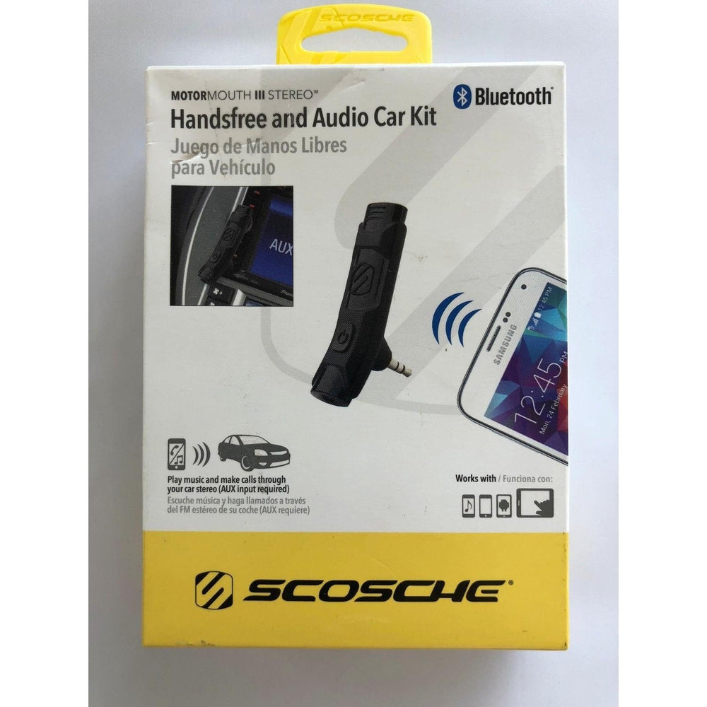 Scosche Bluetooth Handsfree BTAXS2R Audio AUX Car Kit