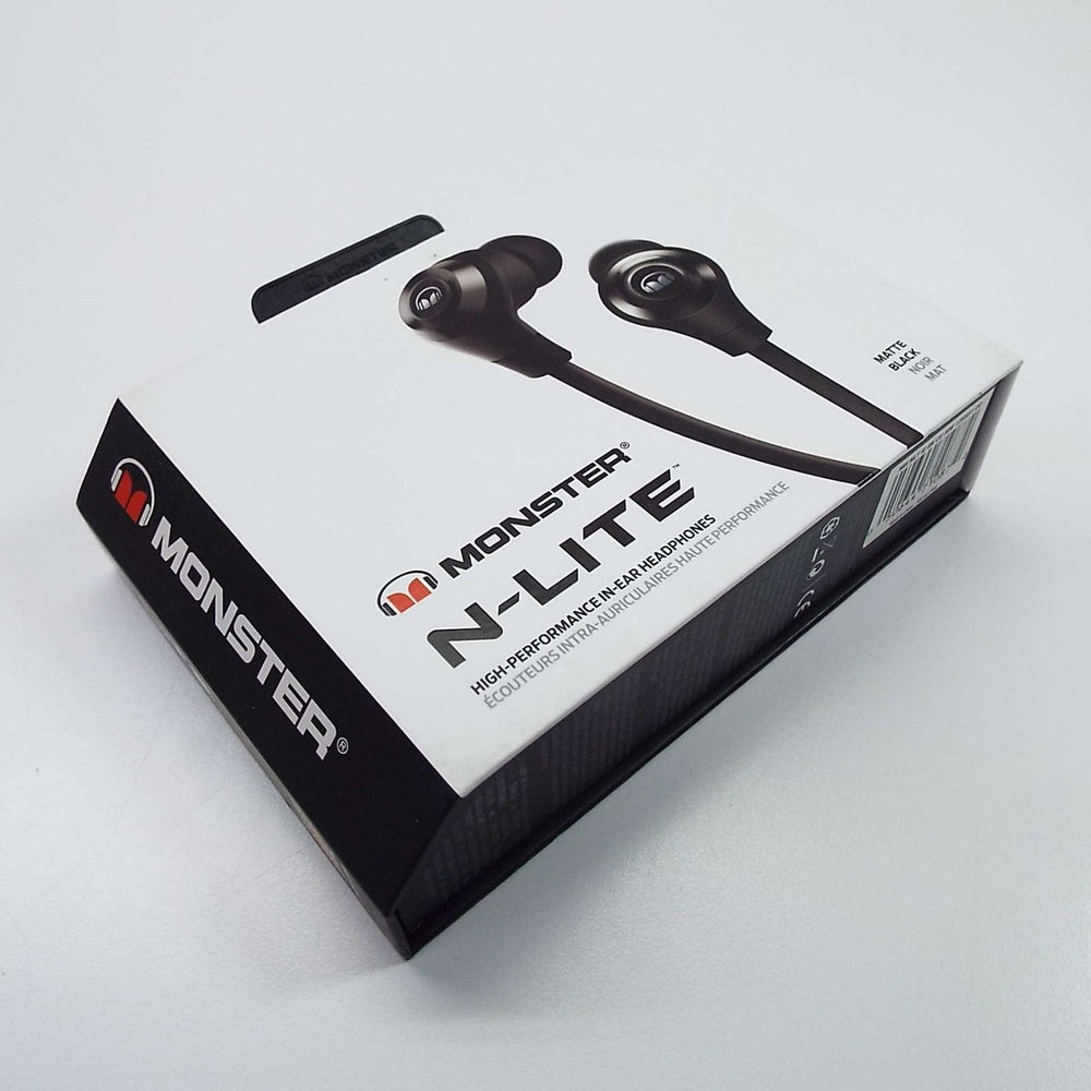 Lot of Monster N-Lite High Performance in ear Headphones  BLACK MATTE