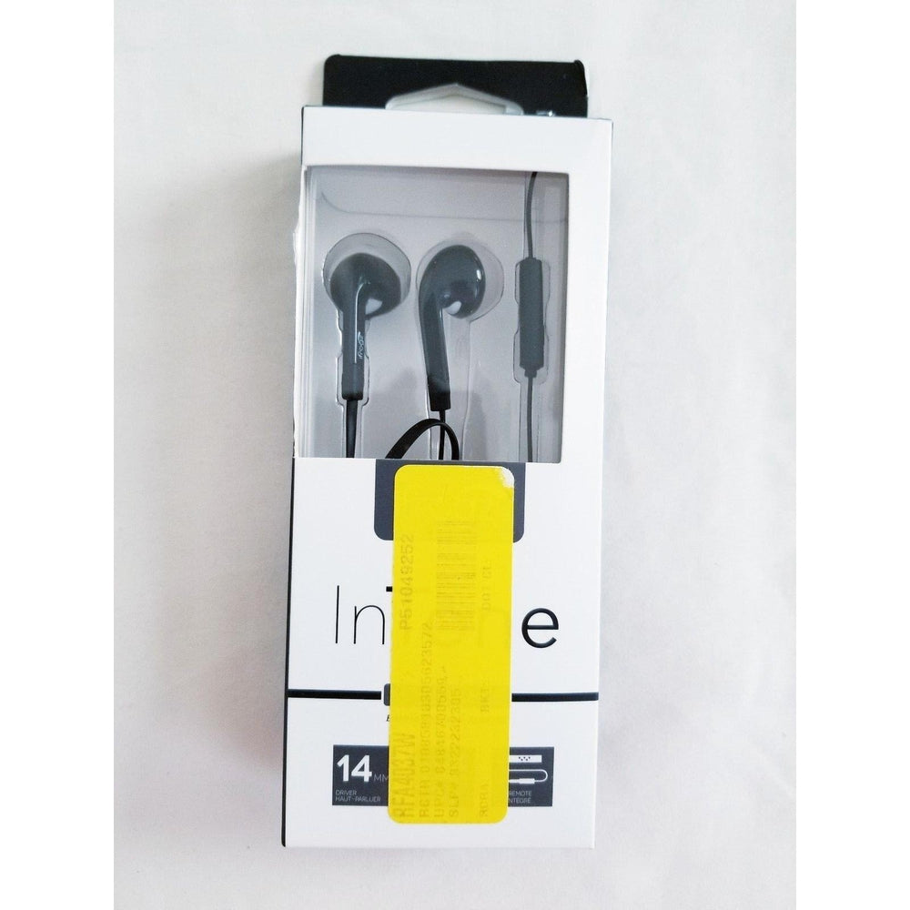 IFrogz InTone In-Ear Earbud Headphones w/ Mic & Flat Cable Black