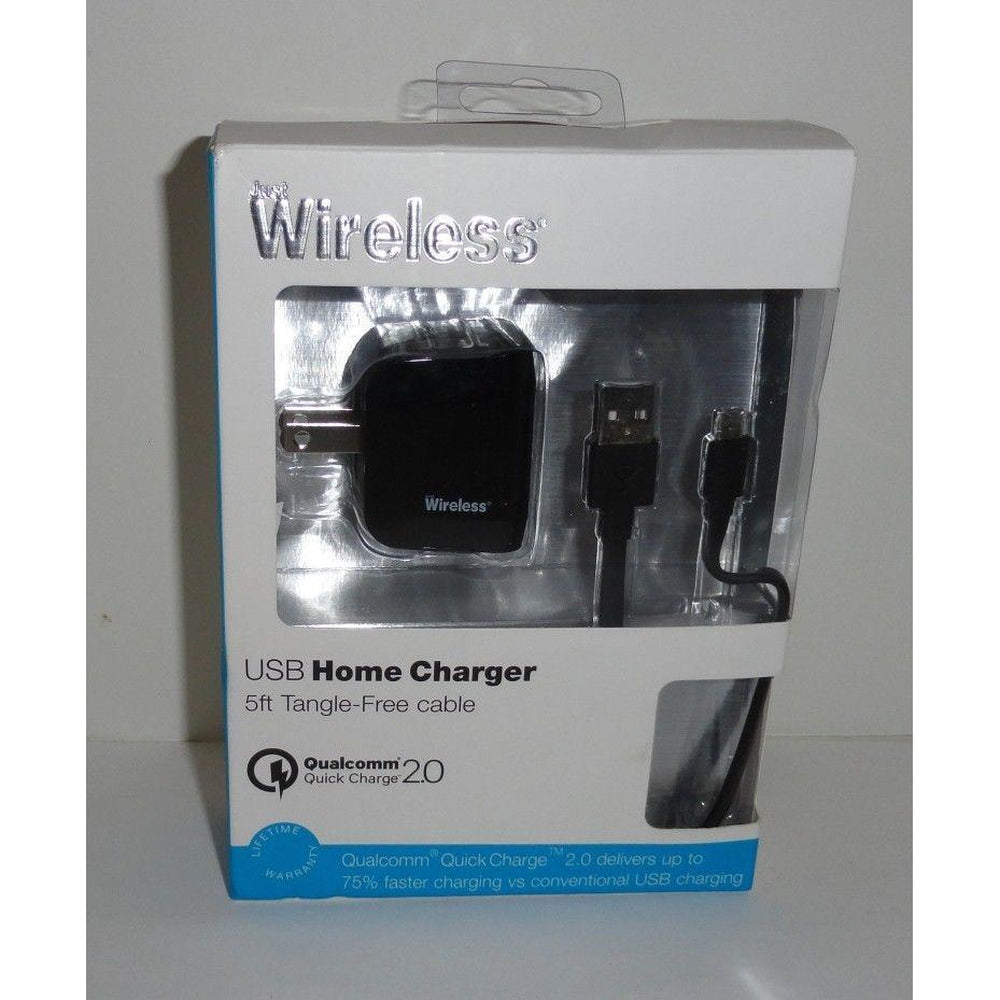 Wireless Micro USB Home Charger 5ft Tangle Free Cable