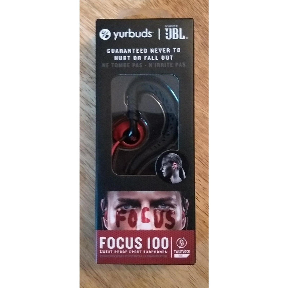 Lot of 20 In Ear Sport Headphones Yurbuds Focus 100 Black