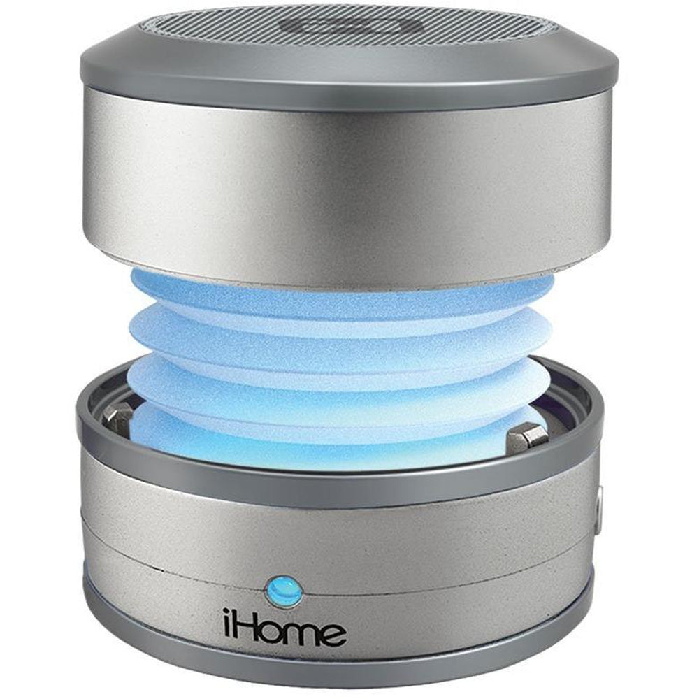 iHome Bluetooth Wireless Rechargable Speaker IBT59  Silver