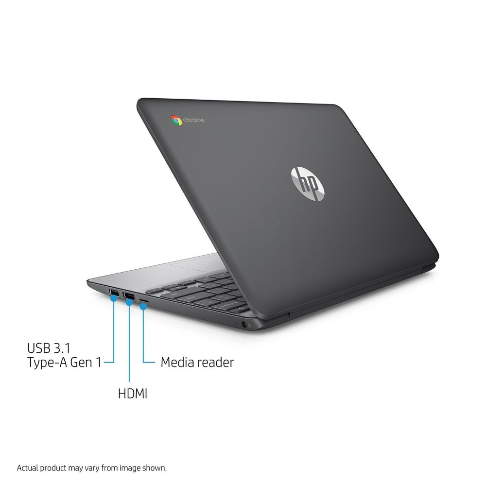 "HP 11-v010wm 11.6"" Chromebook, Chrome, Intel Celeron N3060 Processor, 4GB RAM"