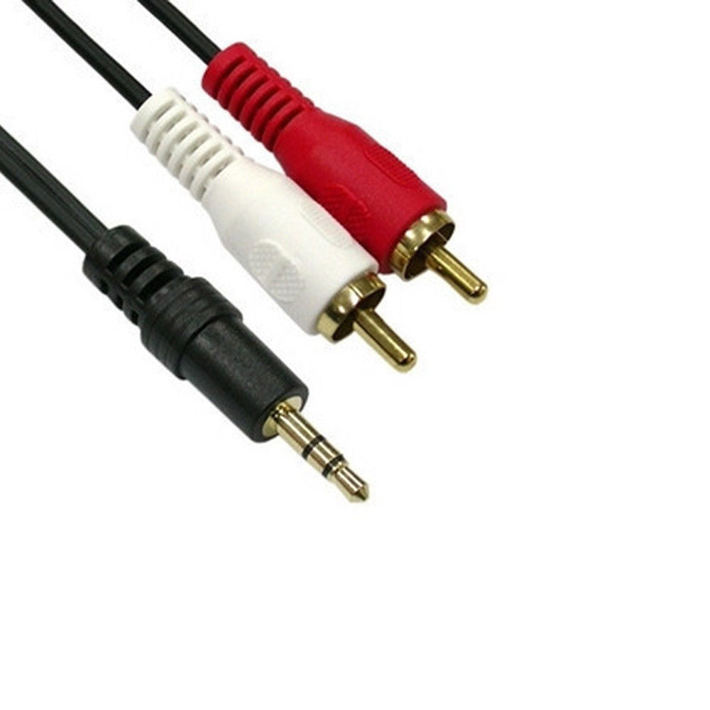 3.5mm Jack To 2 Rca Cable 6ft Audio Adapter Car Radio Wire Jasco