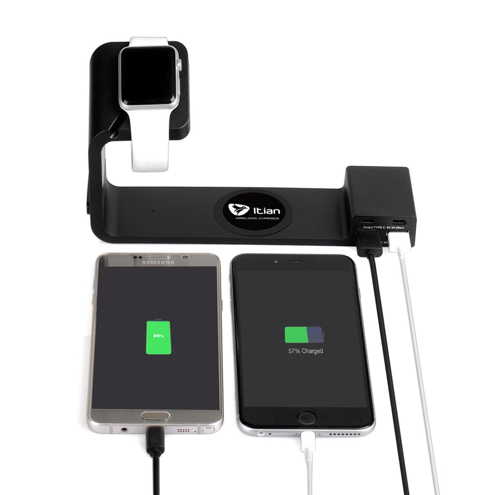 2 in 1 Wireless Charging  Type-C for Apple Watch iWatch iPhone Samsung