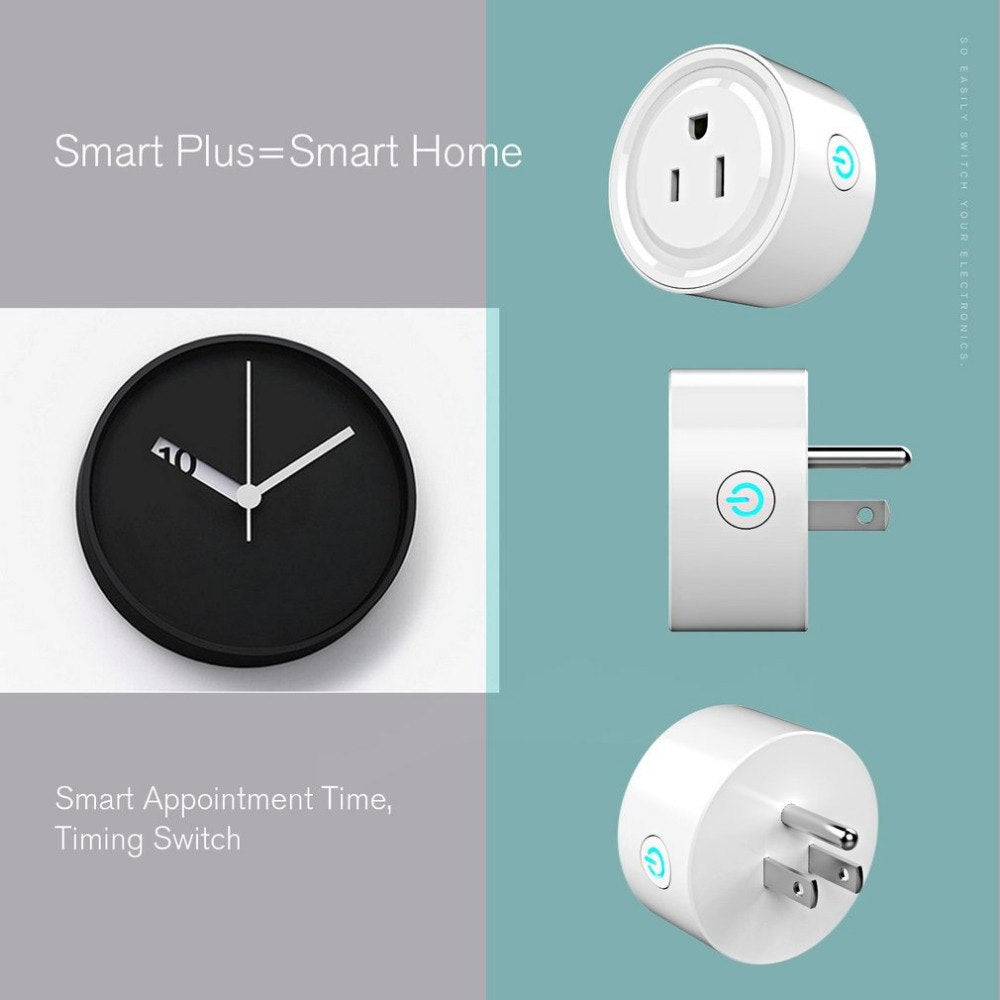 Wifi Smart Plug Smart Household US Plug Home Power Control Socket Remote Control Works For Amazon Alexa & For Google Home
