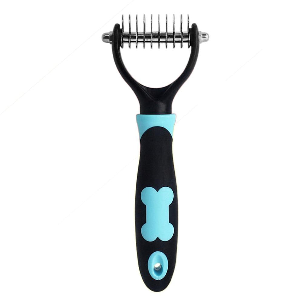 Double Side Dog Brush 13Blades Dematting Matbreaker Grooming Deshedding Trimmer Tool Pet Brush Rake Comb