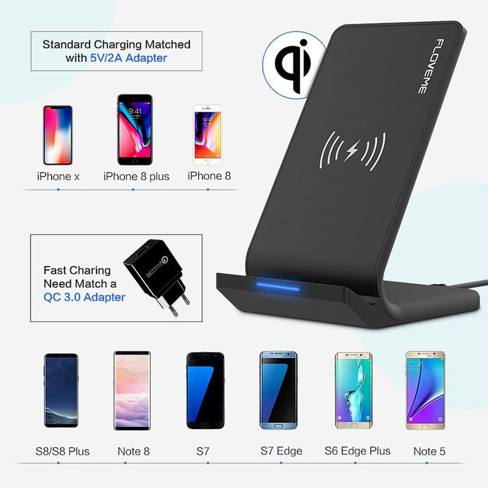 Wireless Charger For Samsung Galaxy S8 S7 S9 Note 8 For iPhone X 8 8 Plus