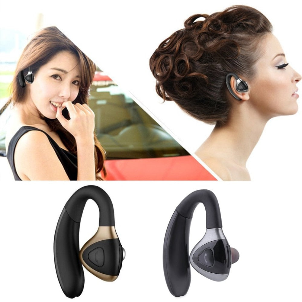 Bluetooth Wireless Earphone Stereo Business Headphone for Smartphones