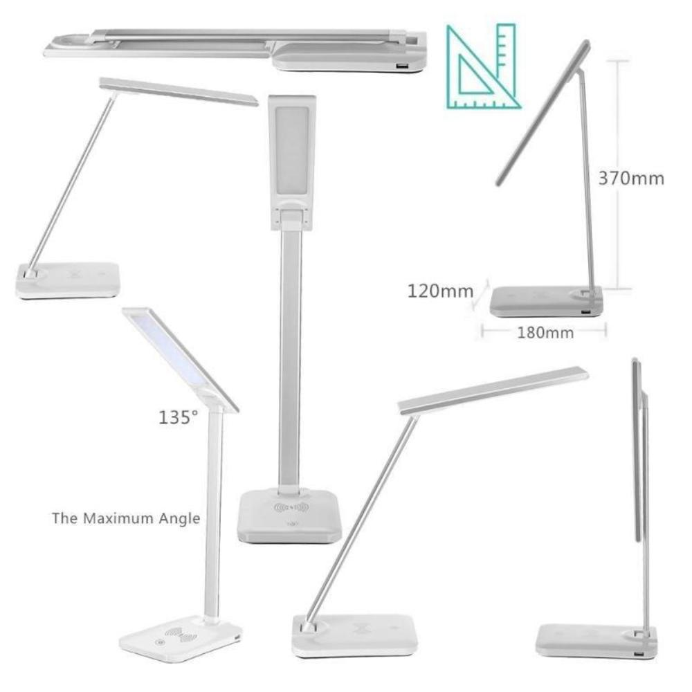 Lamp Folding Dimmable Touch Desk Lamp Wireless Phone Charger