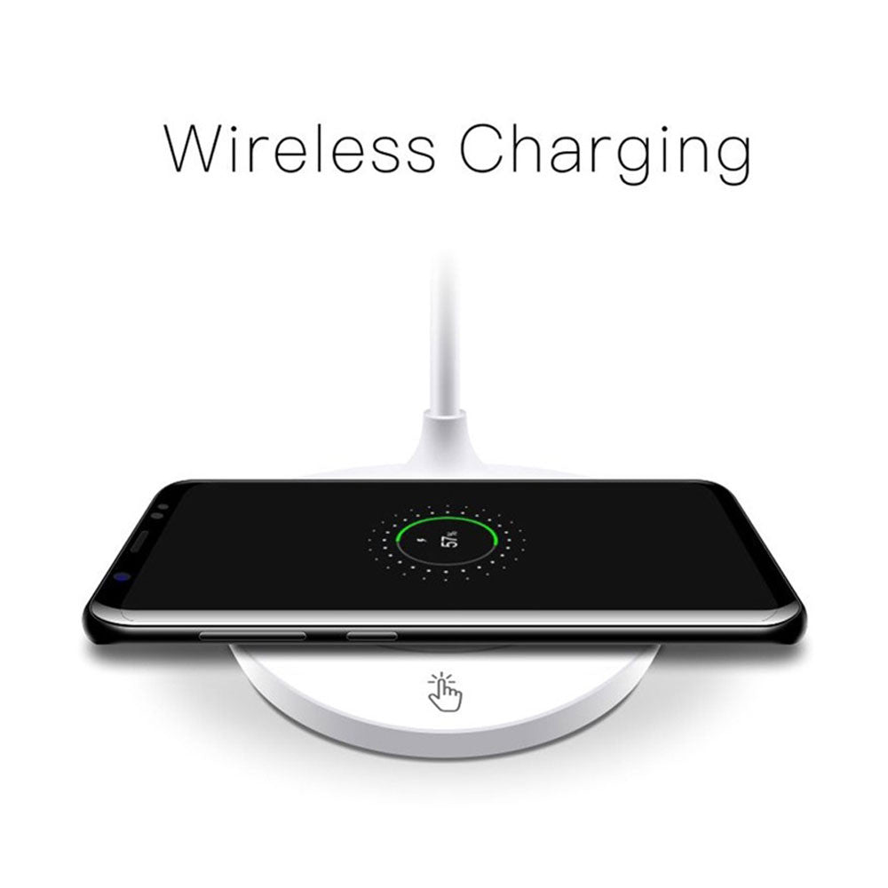 360° Free Rotation Power Supply Wireless Charger Charger Pad with Desk Lamps 15 LED Touch Control Home Charging Dock