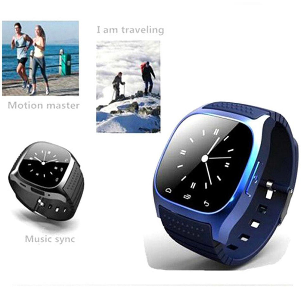 Smart Watch Bluetooth Android Sms Alarm Clock Men Smart Watch
