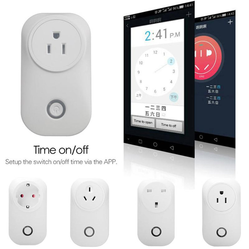 Smart Socket Smart Plug Intelligent Timer App Control Outlet 16A AU Plug WiFi Home Automation