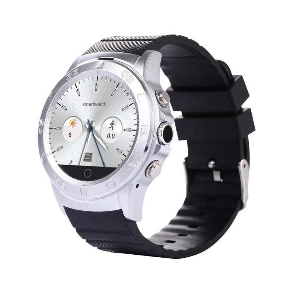 Smartwatch Waterproof 1.54'' Inch BT4.0  Sync Notifier Android Silver