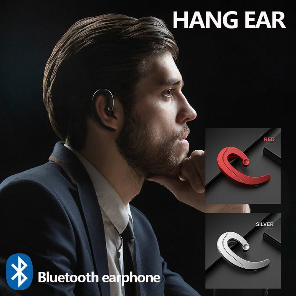 Wireless Bluetooth Earphone Headset  Bone Conduction Single Ear Music Mobile Phone