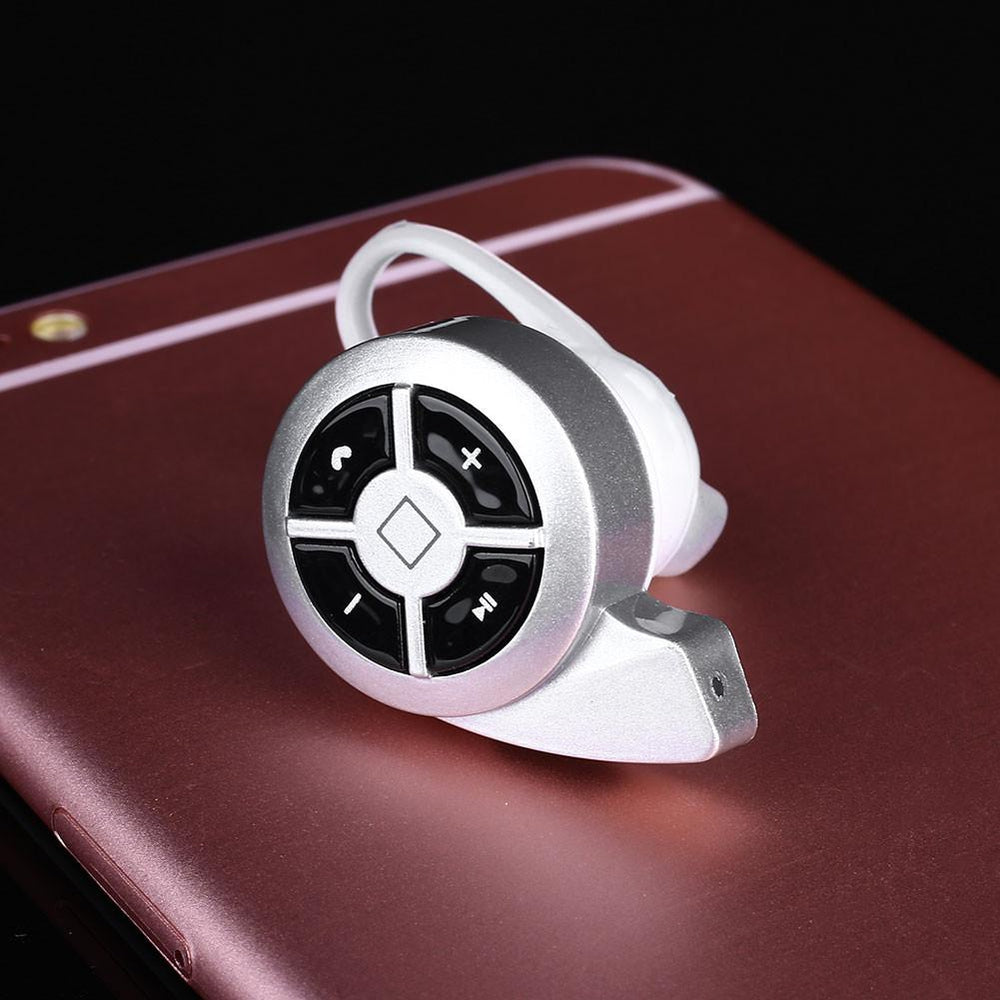 Bluetooth V4.0 Wireless Mini Headset Earphone Headphone Universal Silver