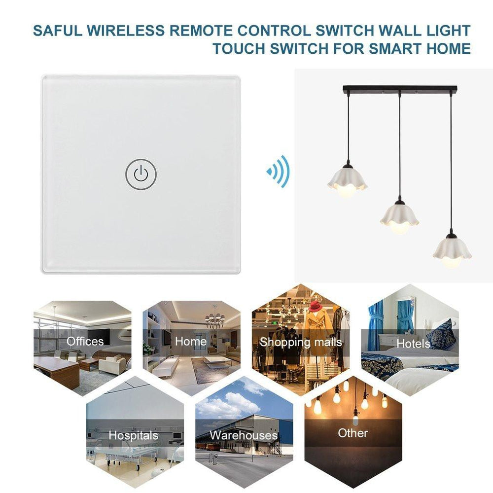 Saful Wireless Remote Control Switch Wall Light Touch Switch for Smart Home