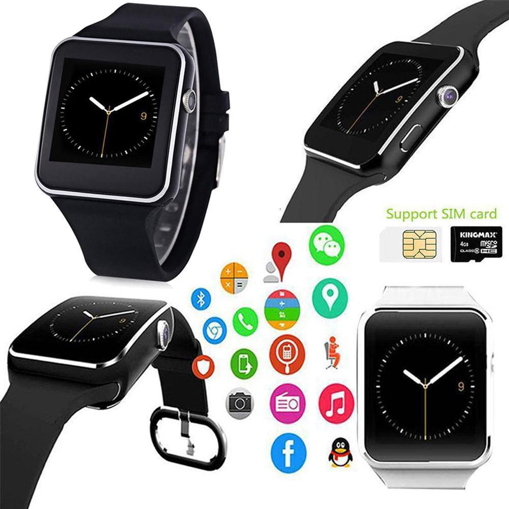 Smart Watch Bracelet Bluetooth  Step Count Tracker Pedometer w/SIM Card Slot