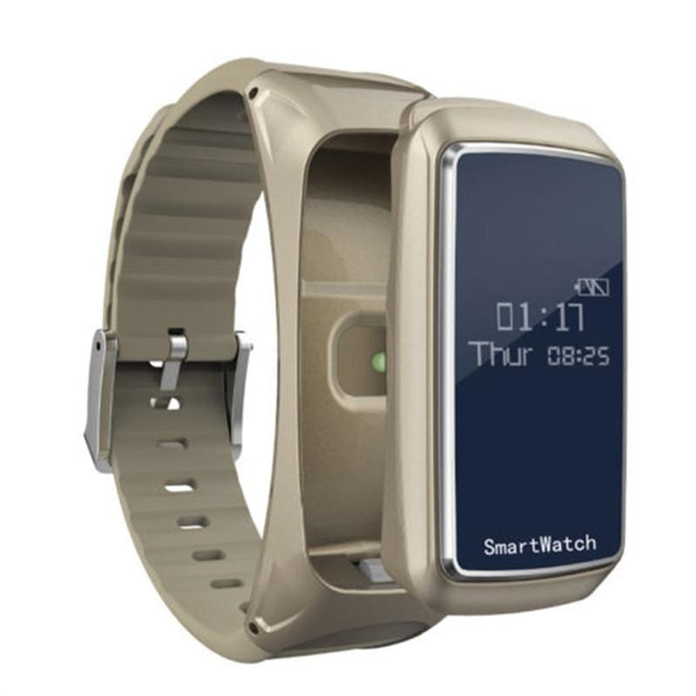 Smart Watch Blood Oxygen Pressure Heart Rate Monitor Pedometer Smart Watch Bracelet Bluetooth Earphone
