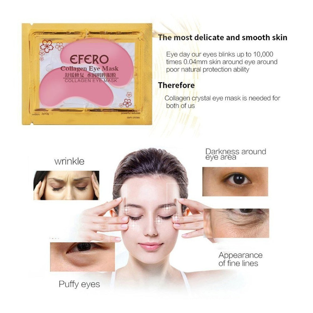 EFERO 10/15/20pair 24K Gold Collagen Eye Mask Face Care Ageless Anti Aging