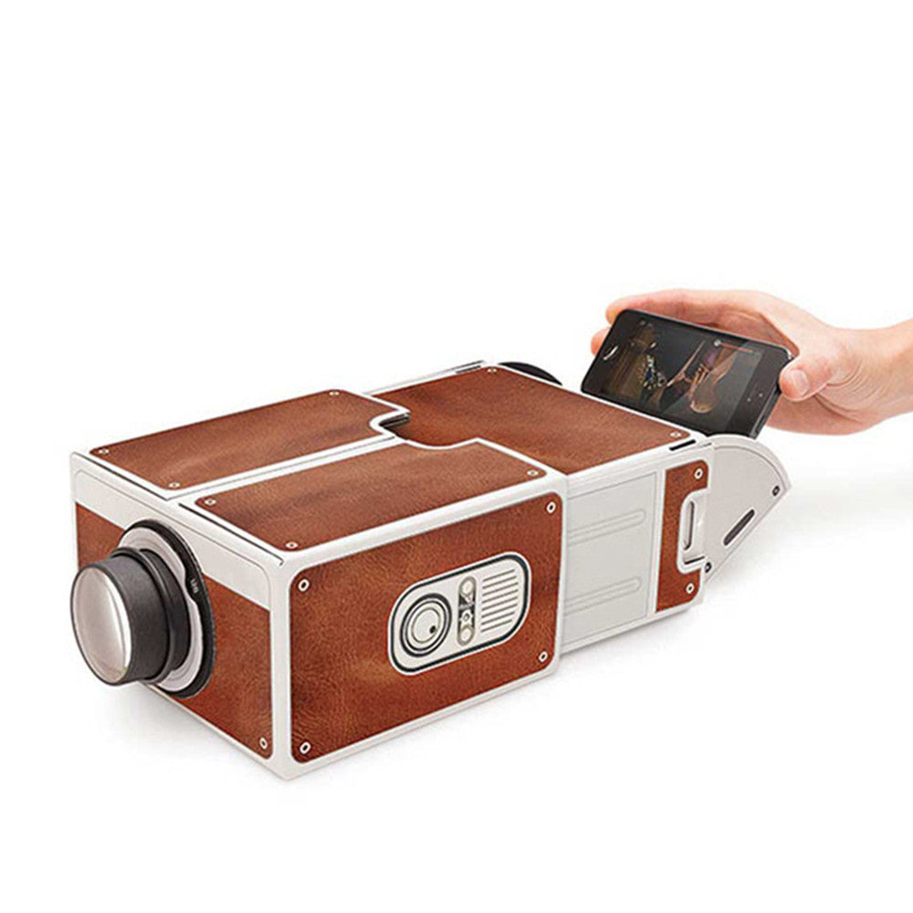 Mini Smart Phone Projector Cinema Portable Home Use DIY Cardboard Family Entertainment