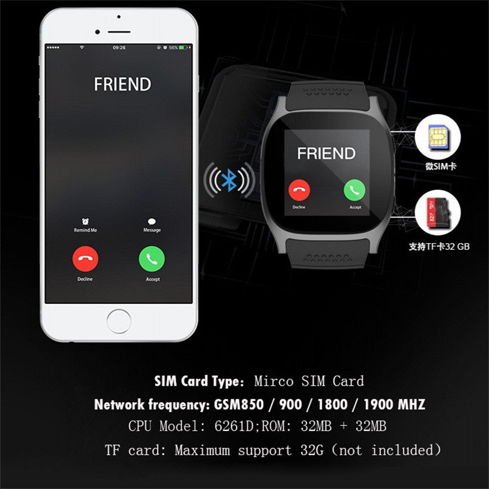 NSmart Watch Support SIM and TFcard Camera For Android For iPhone