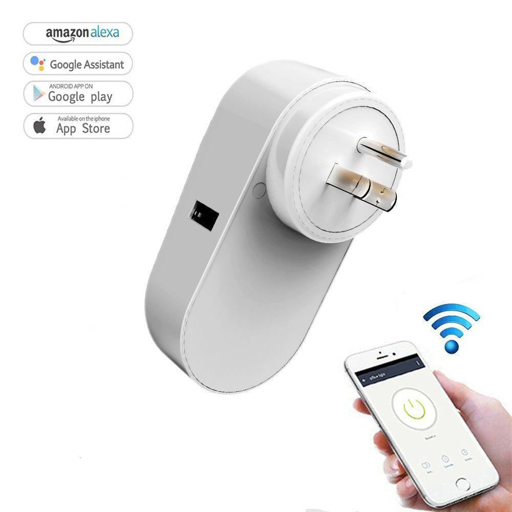 Wifi Smart Plug Intelligent Wireless Remote Socket  compatible with Amazon Alexa, Google Assistant &  Home