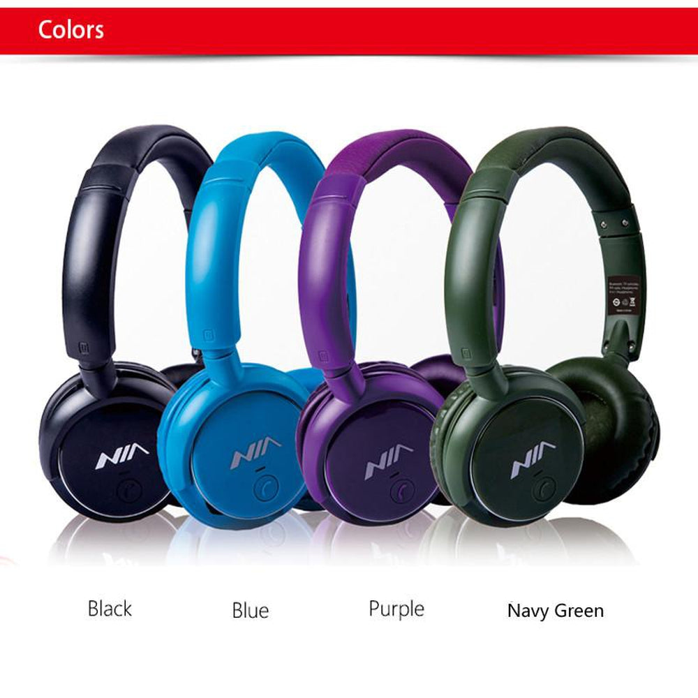 Wireless  Headphones Stereo Headsets with Micphone Support TF Card AUX FM Radio