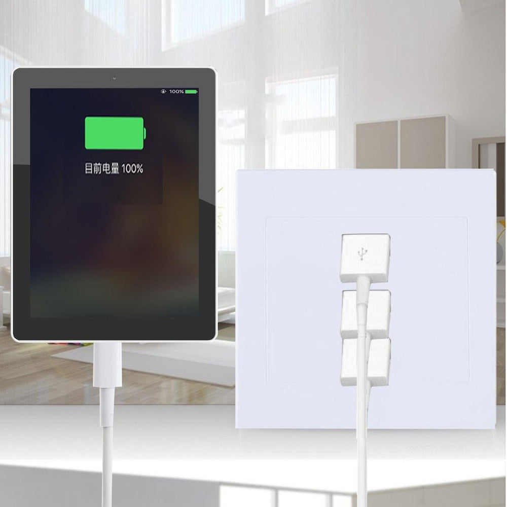 Home Useful 3 Port USB Smart Power Charger Socket 220V To 5V For Cell Phone PC