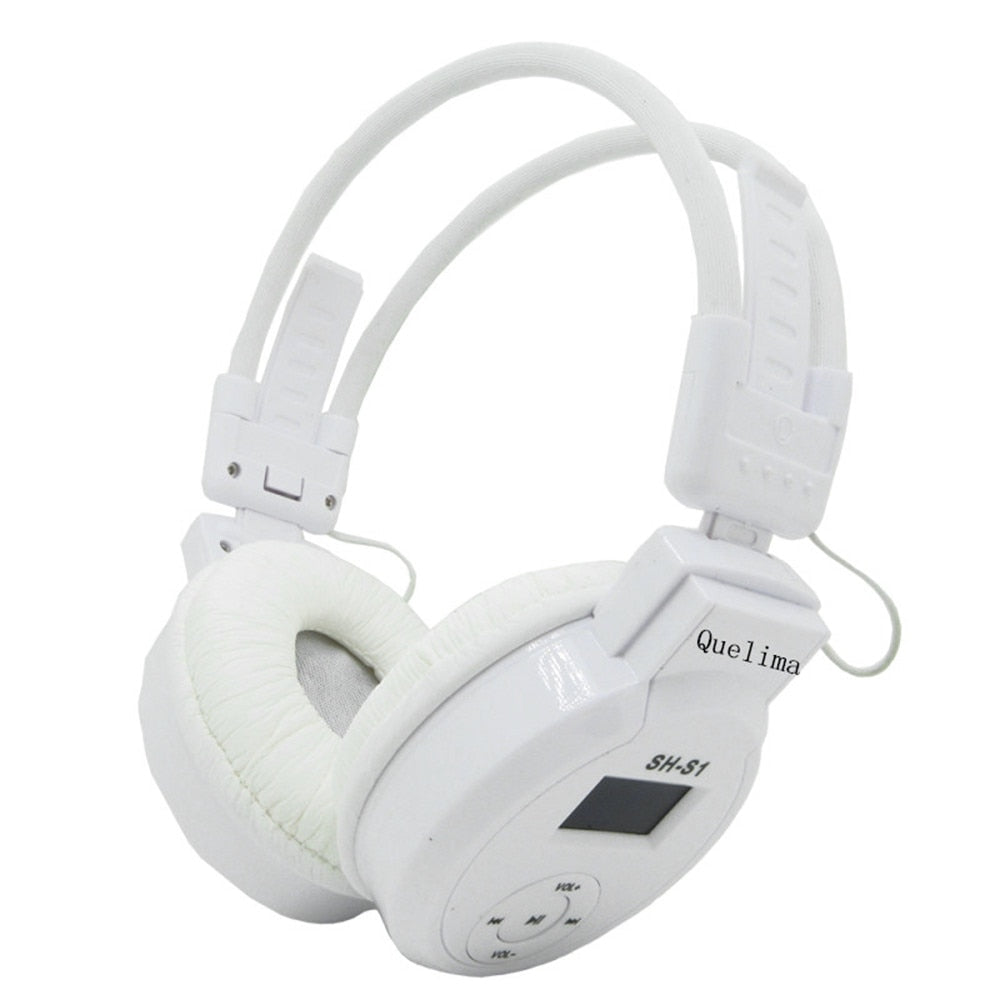 Wireless Headphone  Foldable Headset LED FM Radio with LCD screen Support TF Card