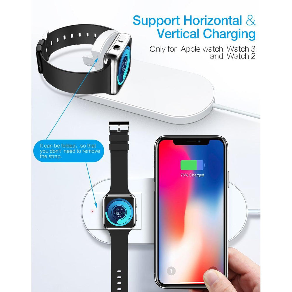 2 in 1 Wireless Charger For Apple Watch 2 3 Fast Charger For Samsung