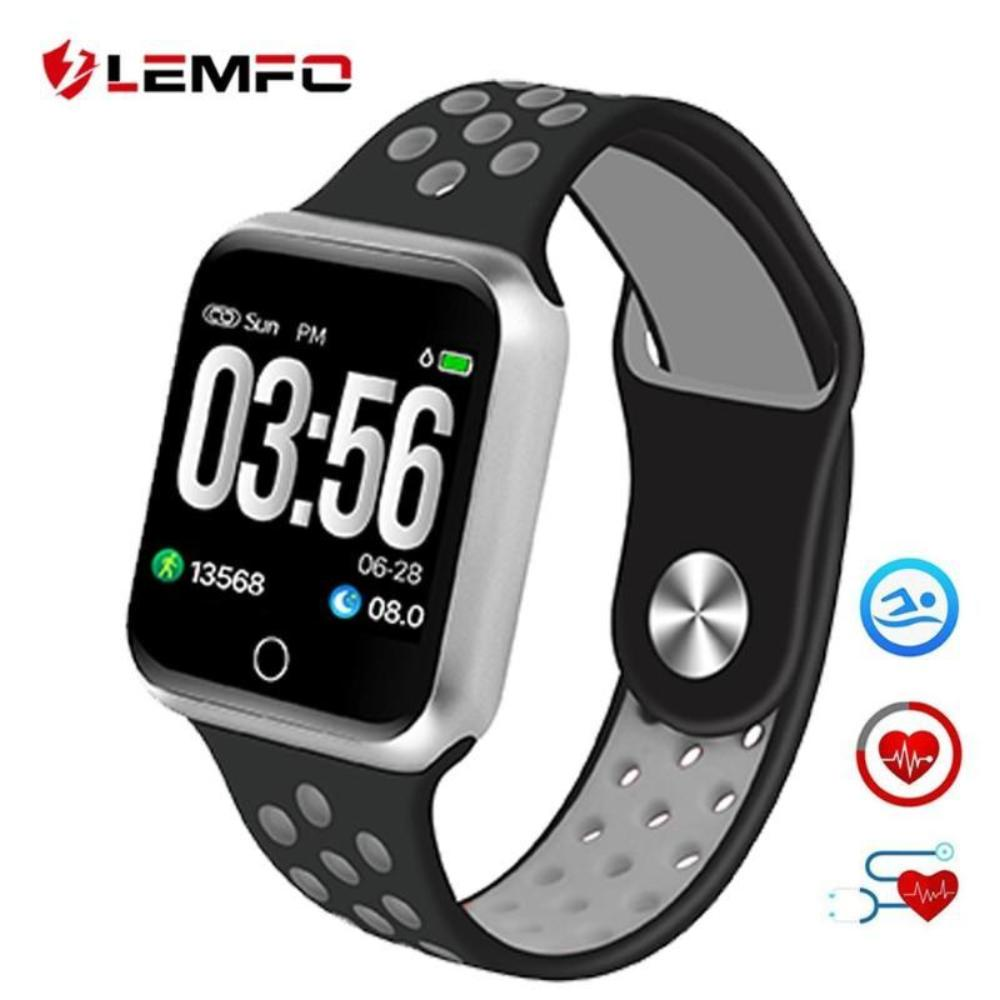 LEMFO Smartwatch Pedometer Heart Rate Blood Pressure Monitor IP67