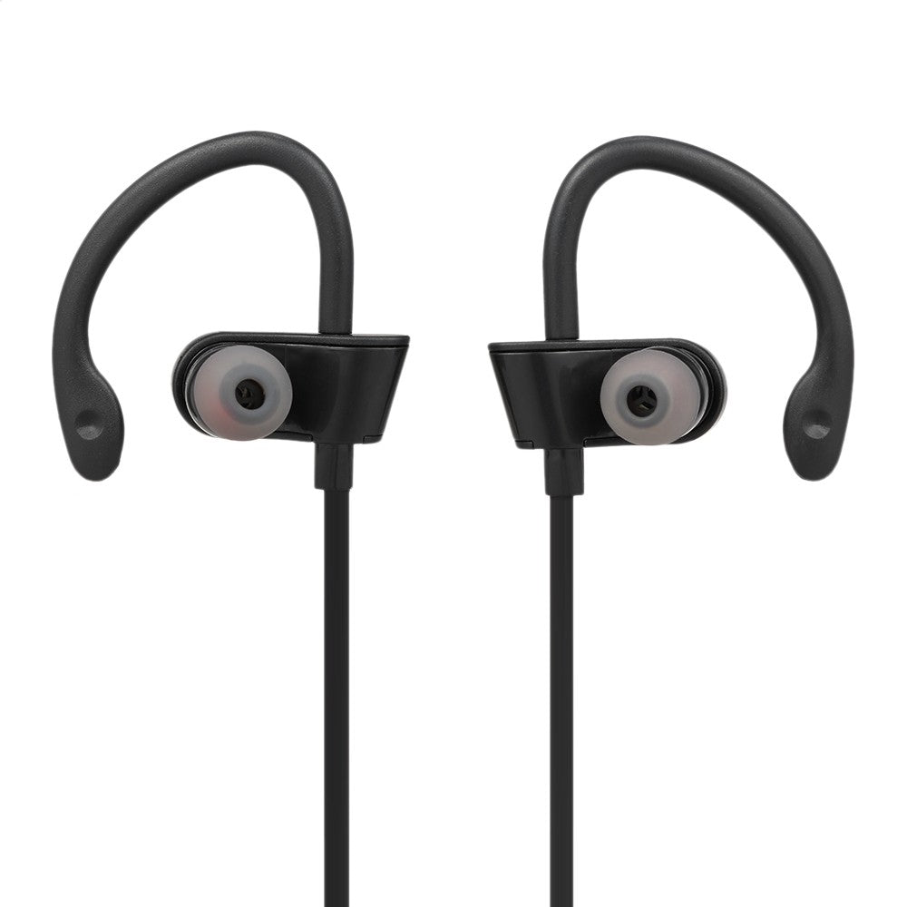 Wireless Bluetooth Earphone In-Ear Sports Sweatproof Earphones Stereo Earbuds Headset with Mic for iPhone Smartphone Tablet Black