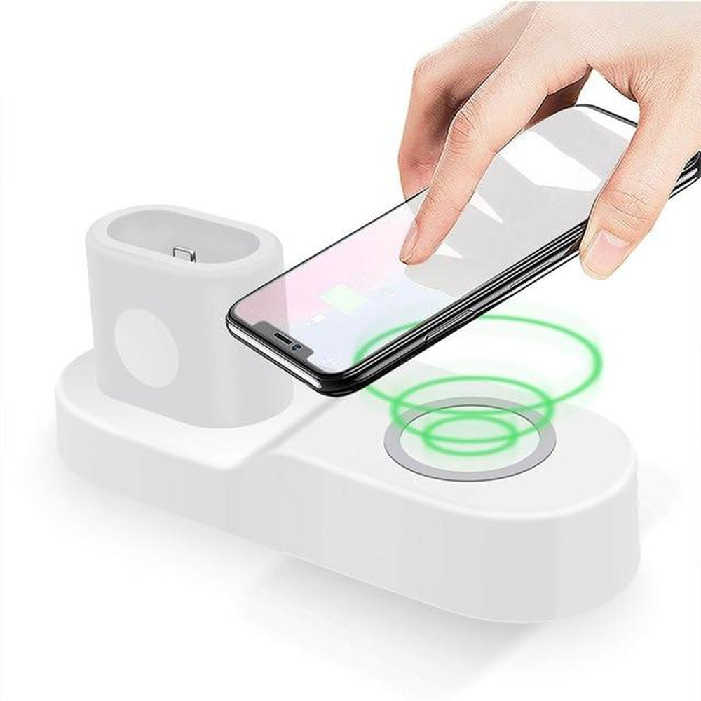 Wireless Charger 4 In 1 dock stand USB Charging  iWatch  iPhone X and AirPods