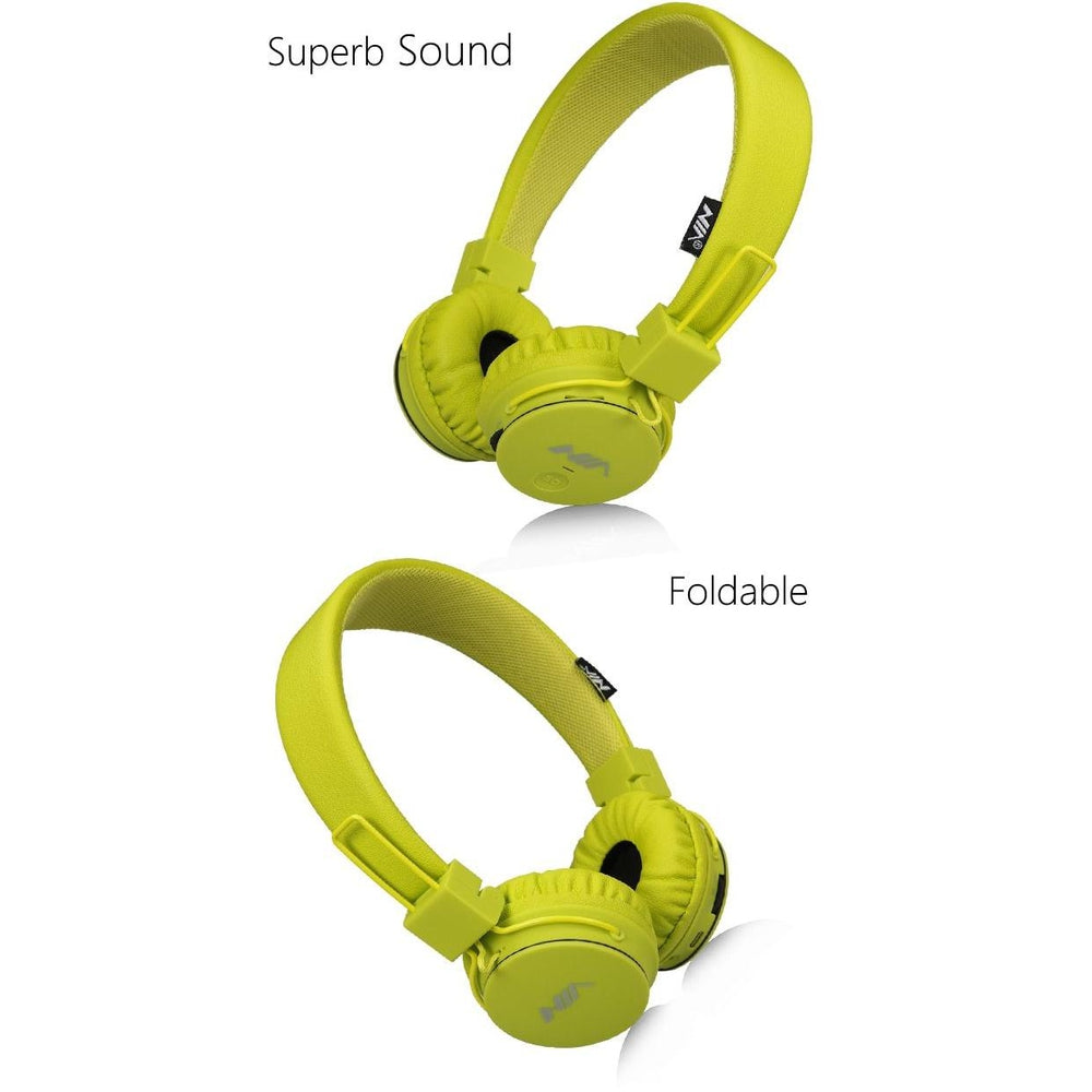 wireless Headphones Foldable Sport Earphone with Mic Support TF Card FM Radio