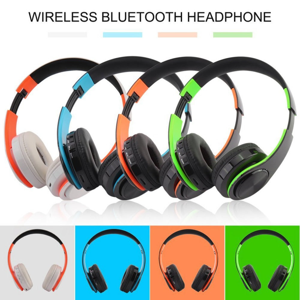 Wireless Headphone Foldable Stereo Headset Mic Handsfree Call FM Radio  TF Card